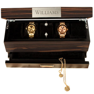 Personalized Watch and Jewelry Box