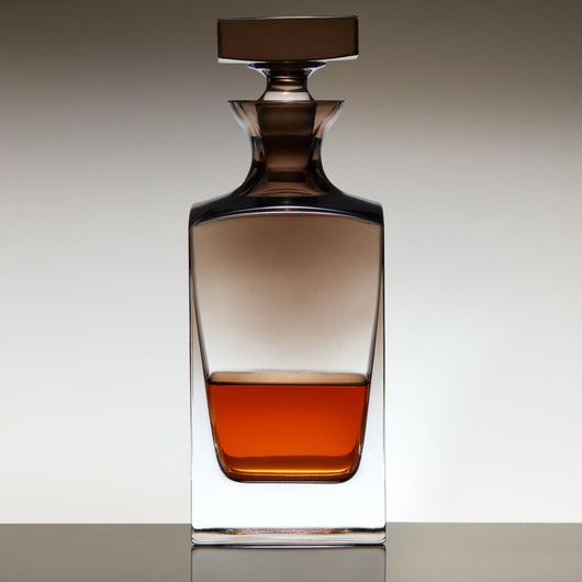 Jennings Whiskey Decanter with Smoke Ombré Finish