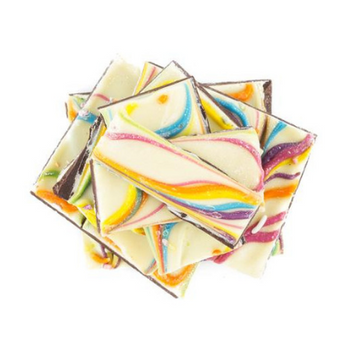 Rainbow Chocolate Bark
