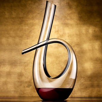Wine Enthusiast Art Series Silhouette Black Stripe Decanter