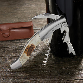 Personalized Stag Horn Corkscrew