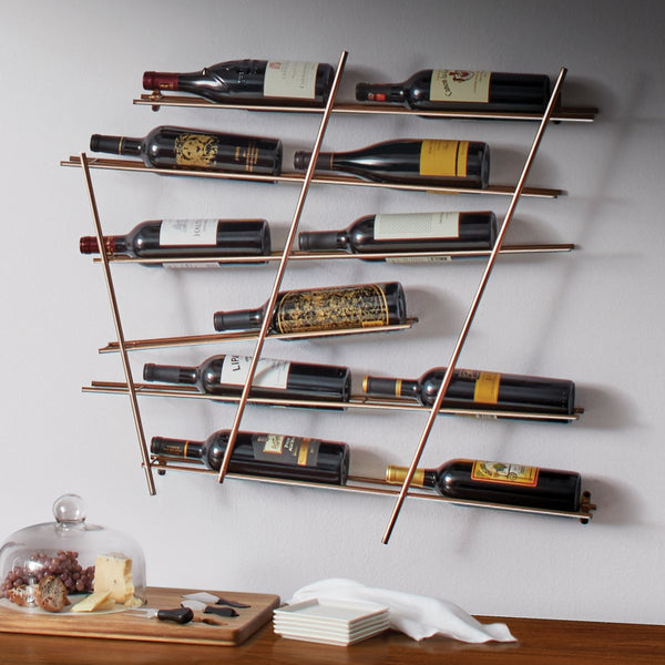 12 Bottle Wall Rack- Bronze
