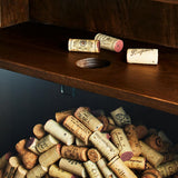 Wall Mounted Wine and Stemware Rack with Cork Catcher