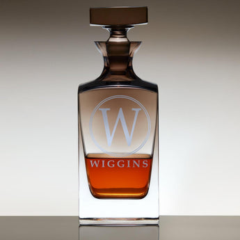 Personalized Jennings Whiskey Decanter with Smoke Ombré Finish -  Wiggins Design