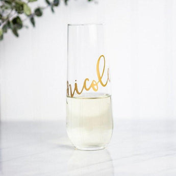 Personalized Stemless Flute (Gold)