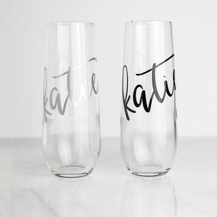Personalized Stemless Flute (Silver)
