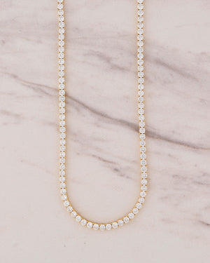 3mm Tennis Necklace - Gold