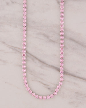 5mm Tennis Choker - Pink