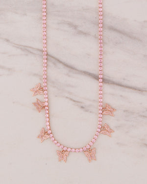 Butterfly Effect Necklace - Pink