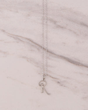 Signature Letter Necklace - Silver