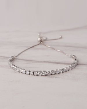 Tennis Bracelet - (Adjustable)