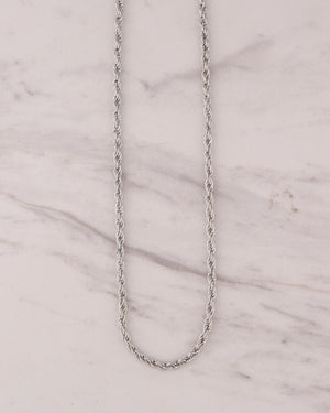 4mm Rope Chain - Silver