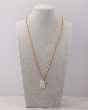 Iced Jesus Necklace - Gold