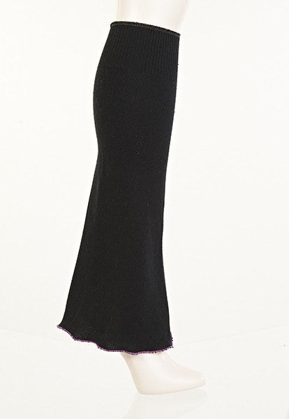 Black Boot-Cut Leg Warmers - FOAT