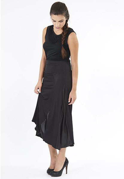 Black Pieced Dress, Sixe XS - FOAT  - 1