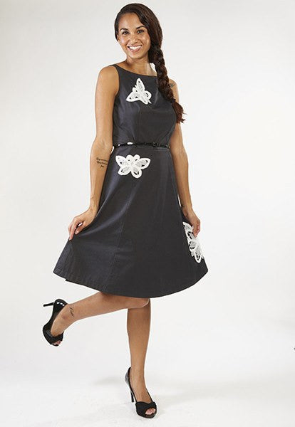 Black Dress with Lace, Size S - FOAT