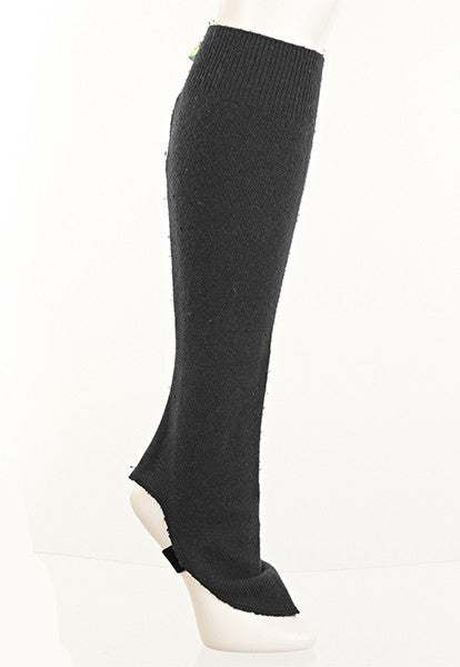 Black Fitted Leg Warmers - FOAT