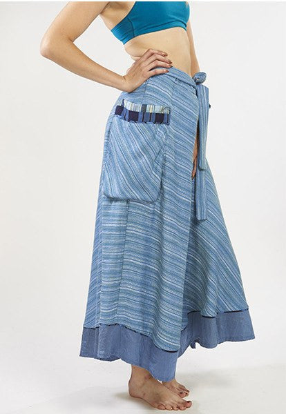 Blue Wrap Skirt - FOAT
