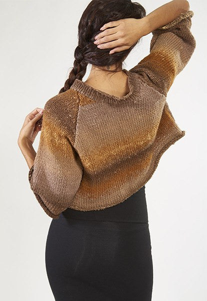 Brown Cropped Sweater - FOAT  - 3