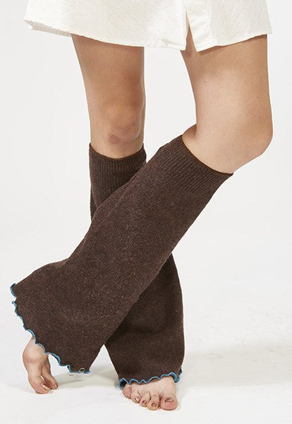 Brown Boot-cut Leg Warmers - FOAT