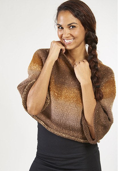 Brown Cropped Sweater - FOAT