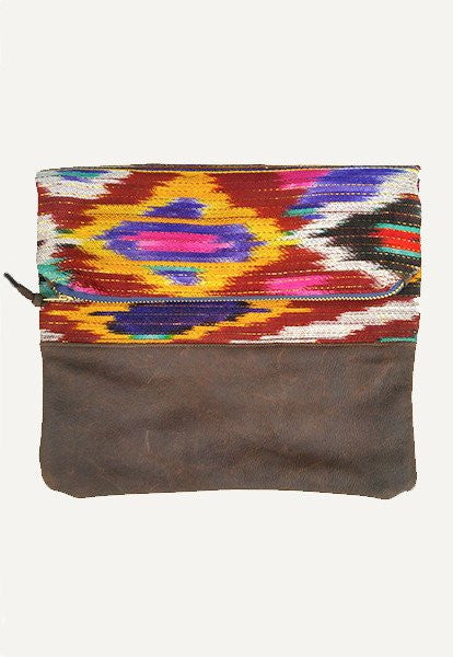 Ikat Fold-Over Clutch - FOAT  - 1