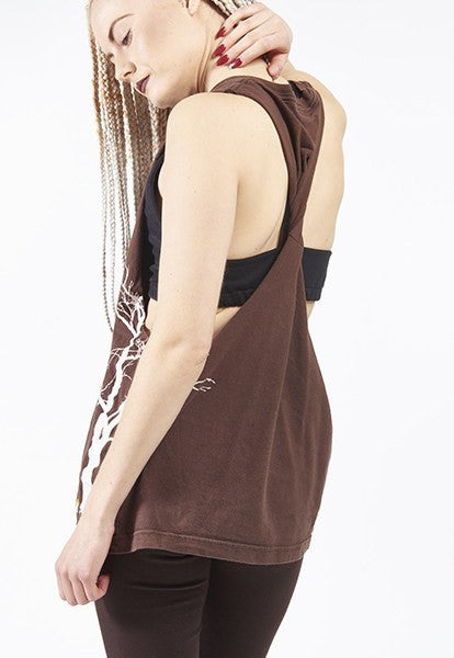 Brown Twisted T-Tank: M - FOAT