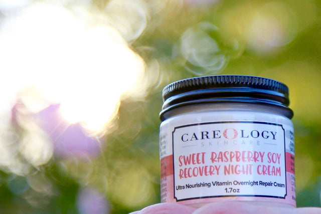 BazaarMPLS, Careology Skincare - Sweet Raspberry Soy Recovery Night Cream, Careology Skincare, Skincare, Shop Minnesota Online, Shop Local MN
