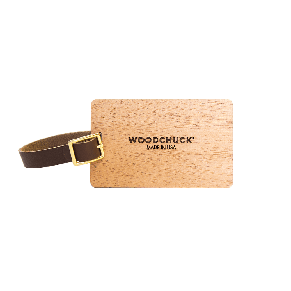 Wood Luggage Tags - Woodchuck USA