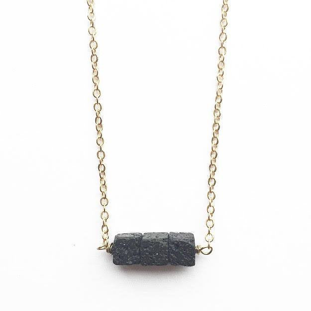 My Naptime Jewelry - Square Diffuser Stone Necklace