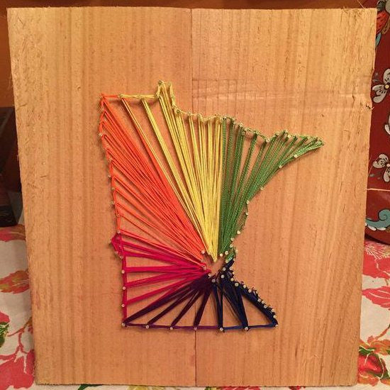 Something Borrowed - Minnesota Pride String Art