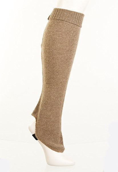 Camel Fitted Leg Warmers - FOAT