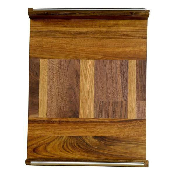 "Timber & Tulip - Callista Decorative Tray w/ Bar Handles 18"" -  Shedua, Walnut & Oak"