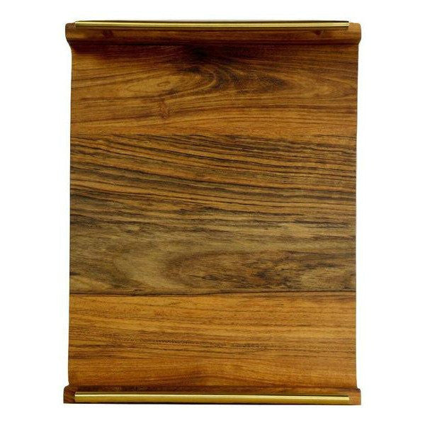 "Timber & Tulip - Callista Decorative Tray w/ Bar Handles 18"" -  Tigerwood & Shedua"