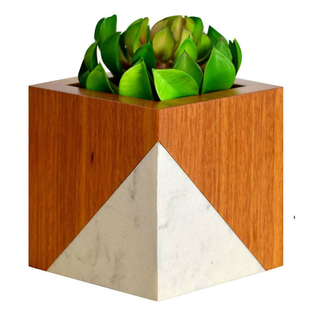 Timber & Tulip - Evie Planter - Tigerwood & Stone