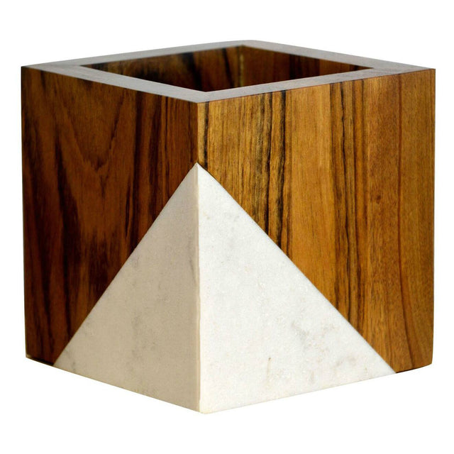 Timber & Tulip - Evie Planter - Marblewood & Stone