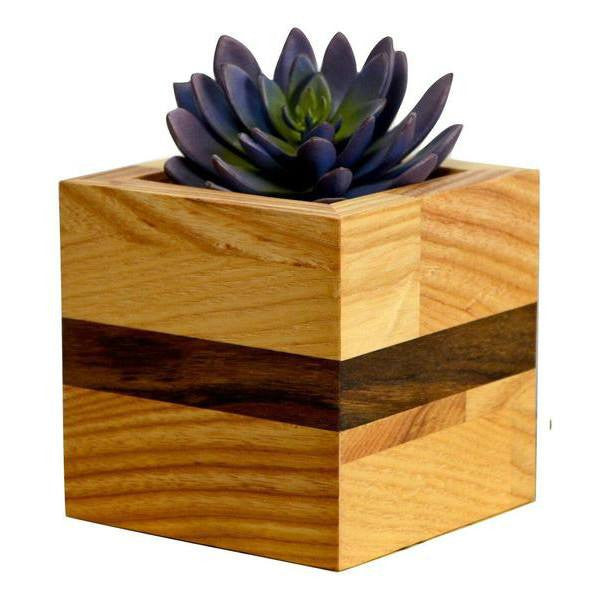 Timber & Tulip - Evie Planter - Oak & Walnut