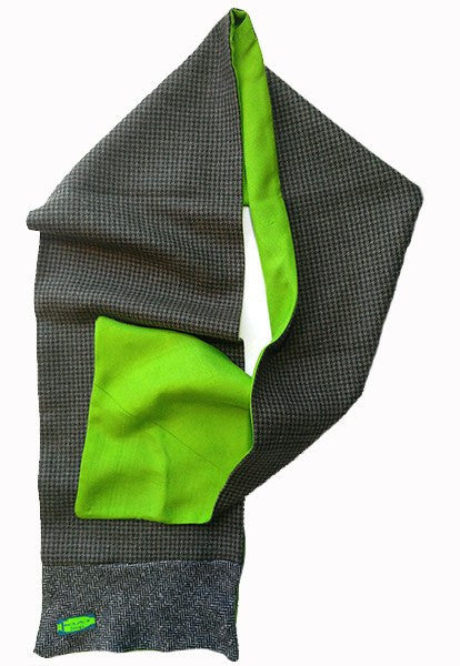 Wool & Green Silk Scarf - FOAT