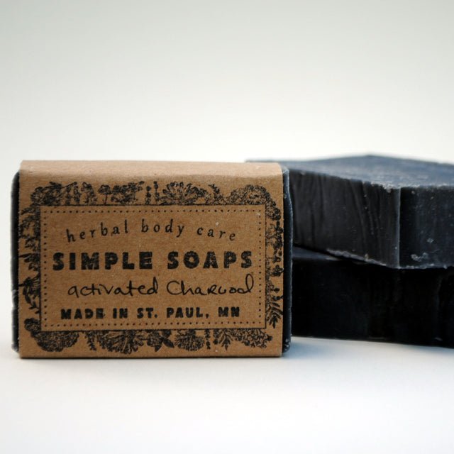 Simple Soaps - Activated Charcoal (Unscented) Bar