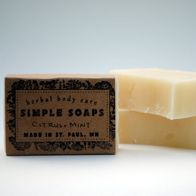 Simple Soaps - Citrus + Mint Everyday Bar