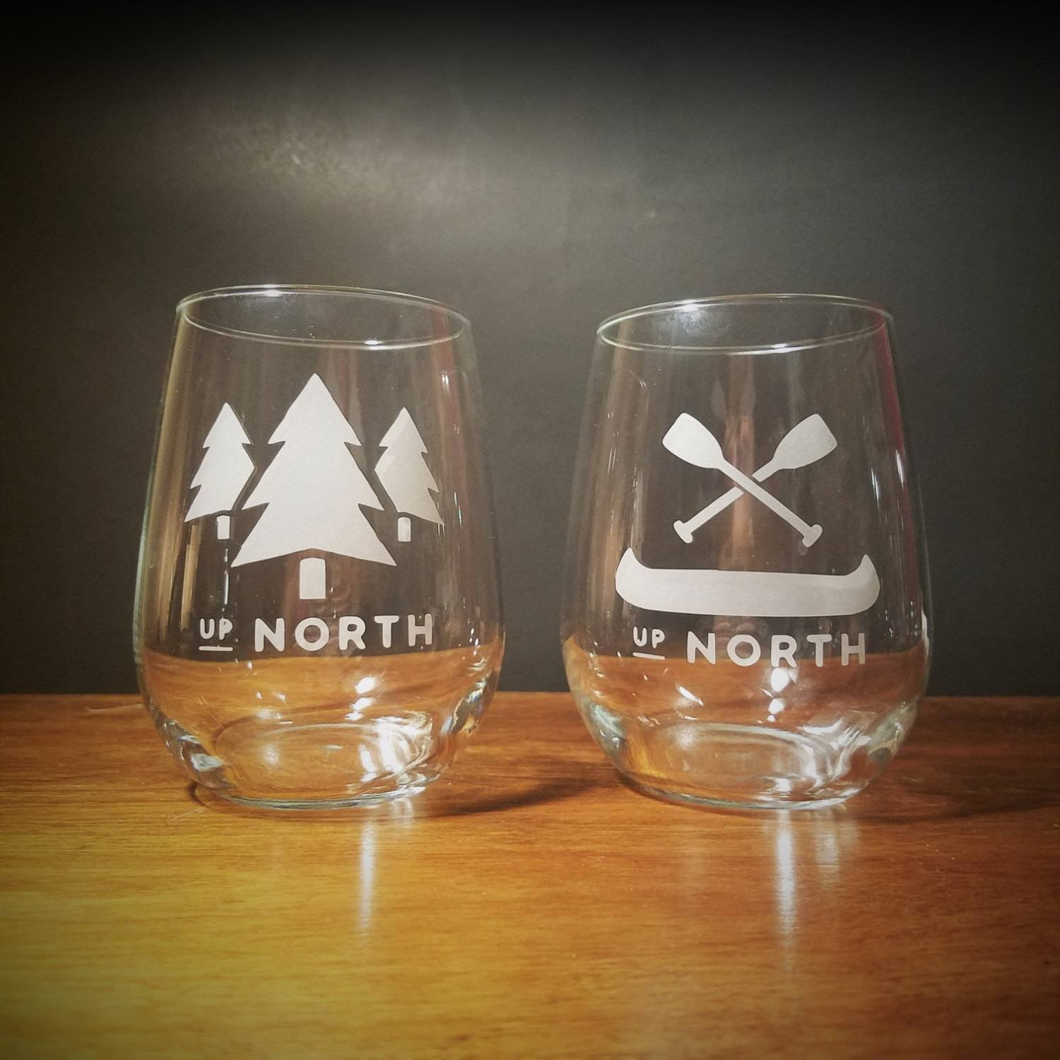 BazaarMPLS, TaylorCathleen - Up North Cabin Stemless Wine Glass, TaylorCathleen, , Shop Minnesota Online, Shop Local MN