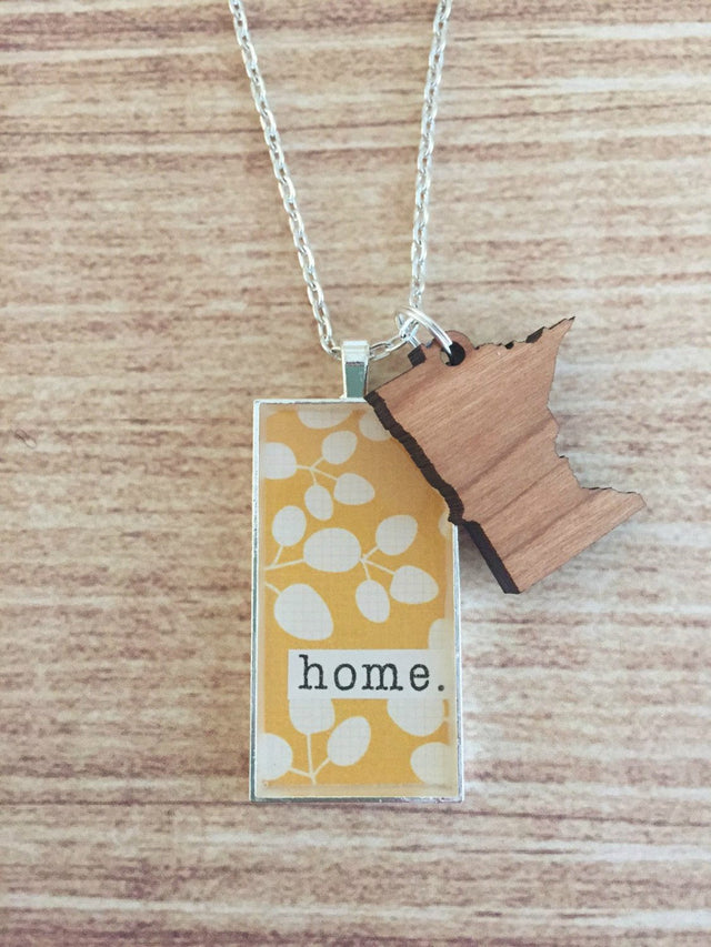 Wild Rose Studios - MN Home Necklace - YellowWild-Rose-Studios