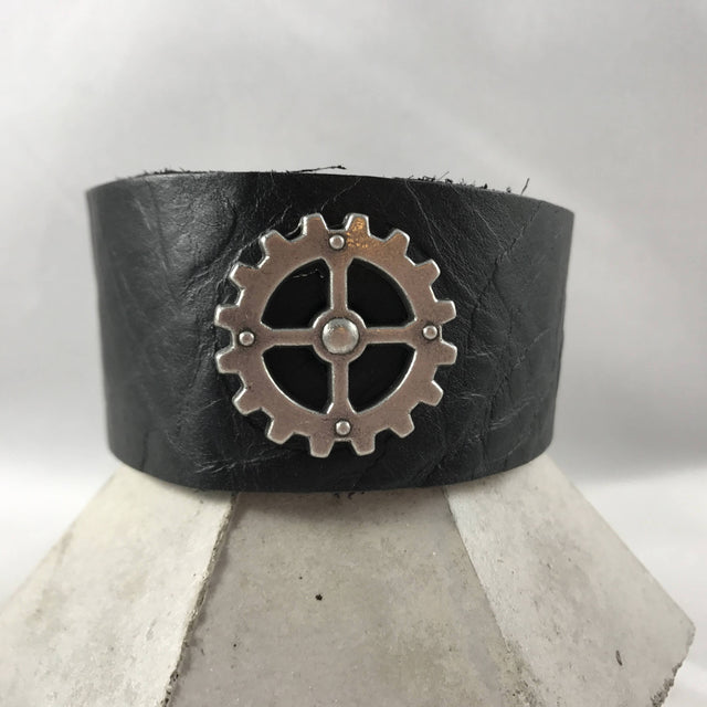Desdamona Doolittle - Recycled Leather Steam Punk Cuff