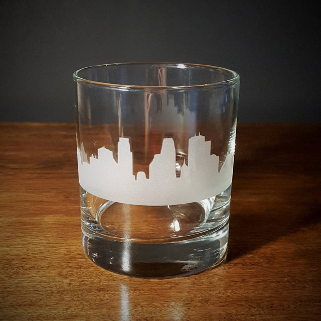 BazaarMPLS, TaylorCathleen - Minneapolis Skyline Old Fashioned Whiskey/Lowball Glass, TaylorCathleen, , Shop Minnesota Online, Shop Local MN