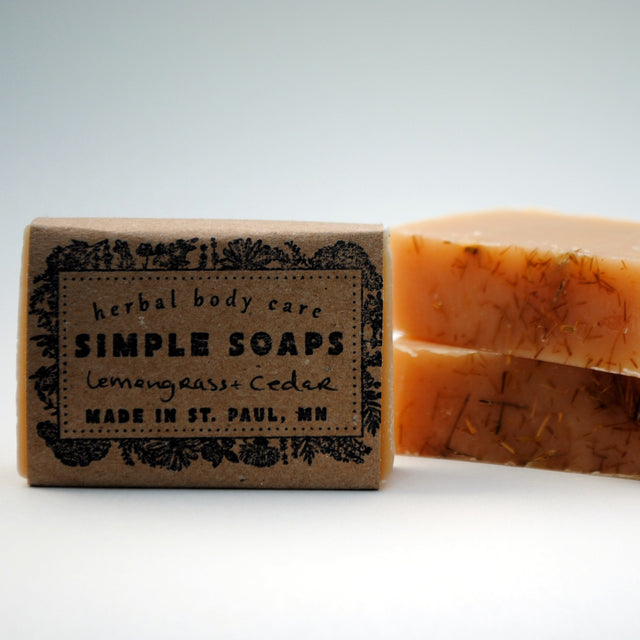 Simple Soaps - Lemongrass + Cedar Shaving Bar
