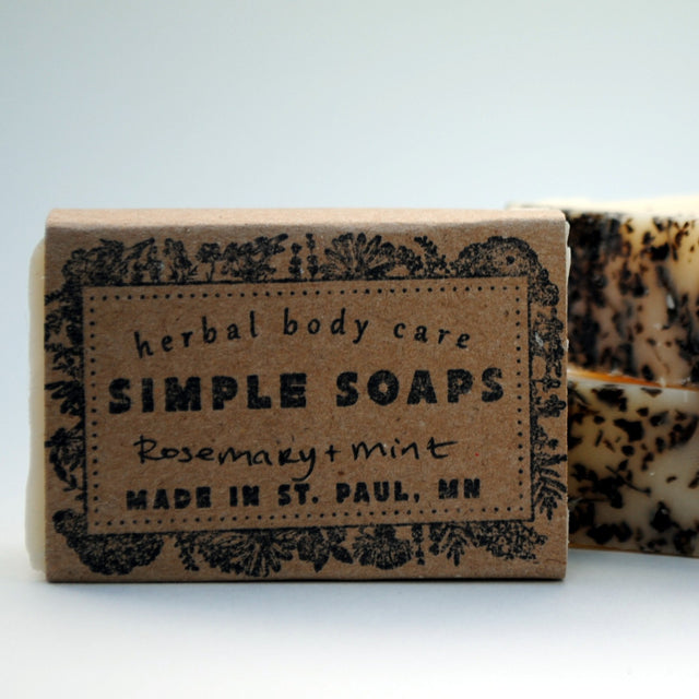 Simple Soaps - Rosemary + Mint Shampoo Bar