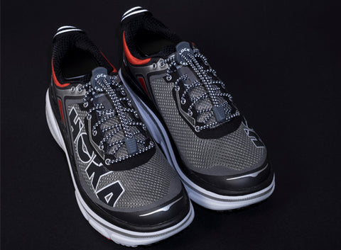 lock laces reflective for running at night