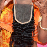 "Closure 14"" inches 4*4  piece"
