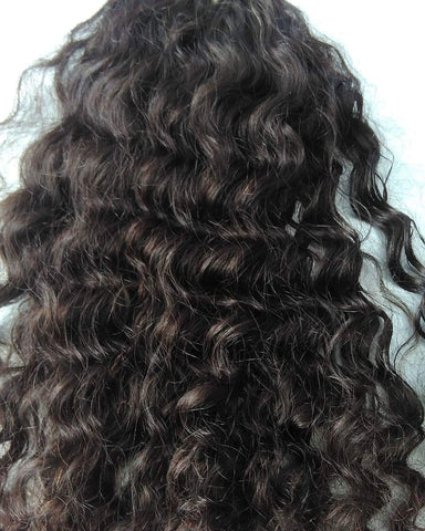 "10"" inches 1 bundle Curly hair"