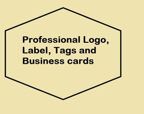 professional logo, Label, Tags and Business cards to increase business